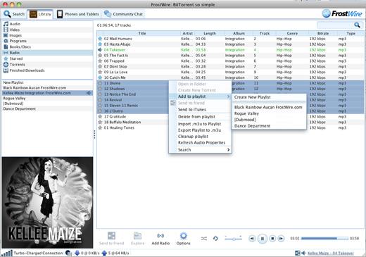 ������ ������ ������� �������� FrostWire 5.3.5