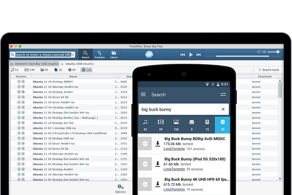 FrostWire Plus for Android - FrostWire - BitTorrent Client