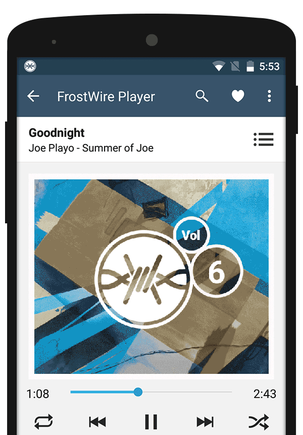 New Media Player for FrostWire for Android